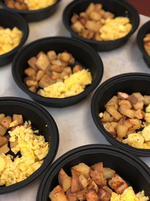 Scrambled Eggs and Roasted Sweet Potatos