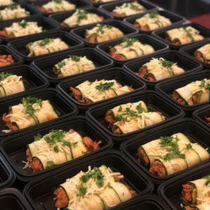 Shredded Chicken zucchini enchiladas